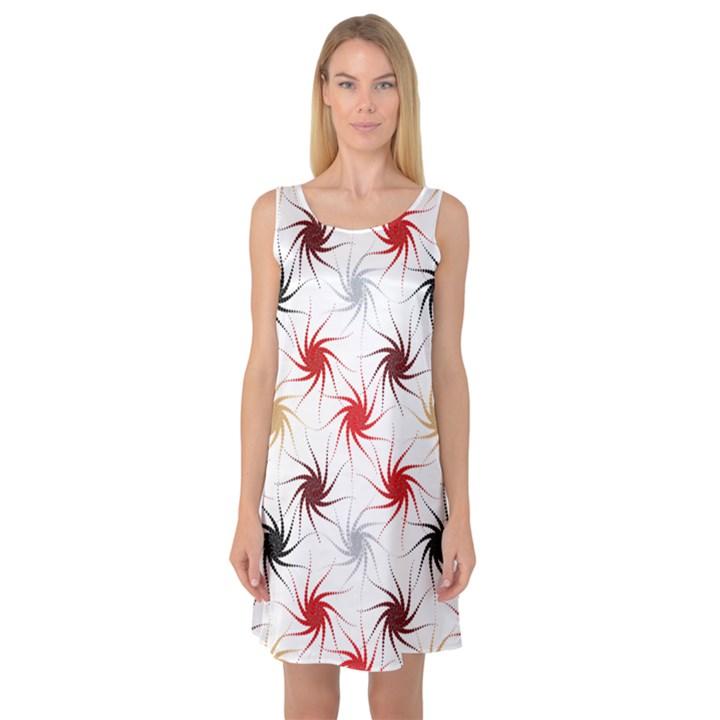 Pearly Pattern Sleeveless Satin Nightdress