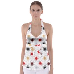 Pearly Pattern Babydoll Tankini Top