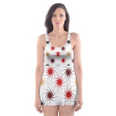 Pearly Pattern Skater Dress Swimsuit