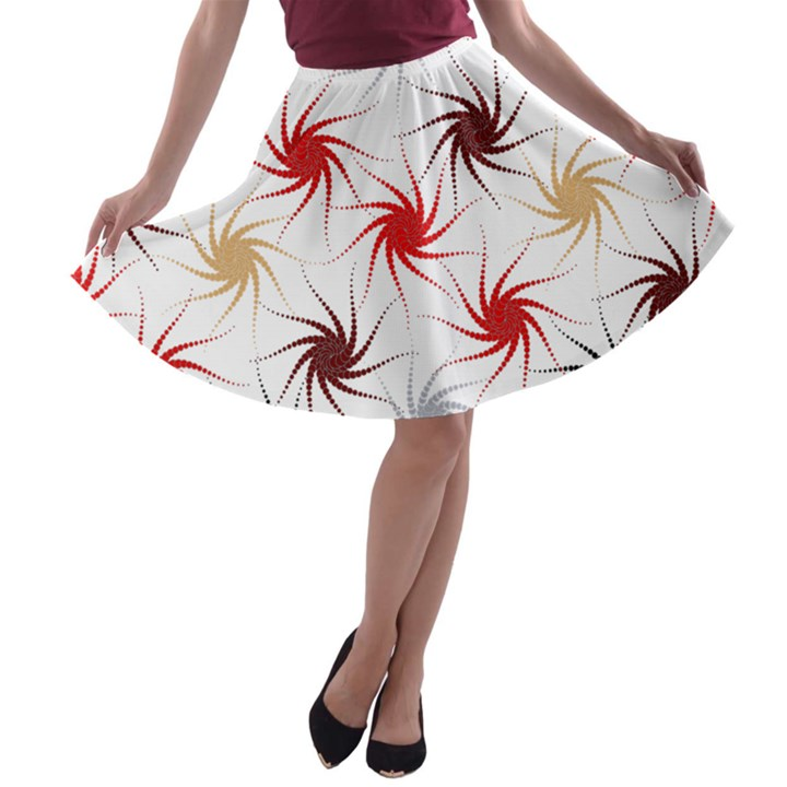 Pearly Pattern A-line Skater Skirt