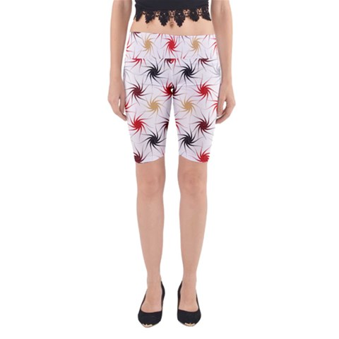 Pearly Pattern Yoga Cropped Leggings