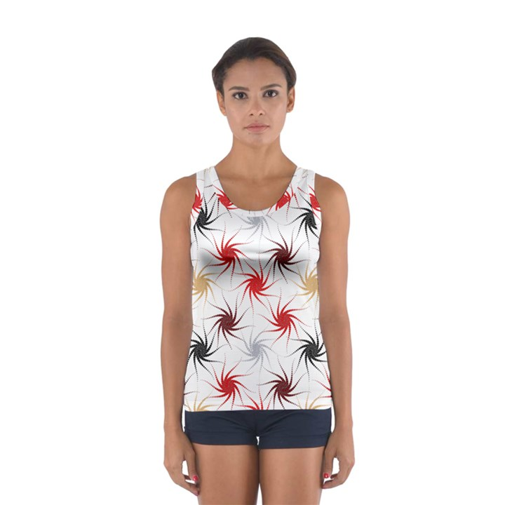 Pearly Pattern Women s Sport Tank Top
