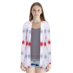 Pearly Pattern Drape Collar Cardigan