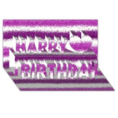 Pink Christmas Background Happy Birthday 3D Greeting Card (8x4)