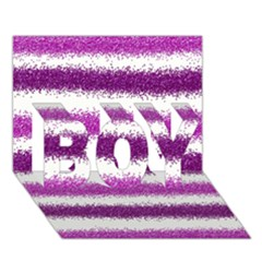Pink Christmas Background BOY 3D Greeting Card (7x5)
