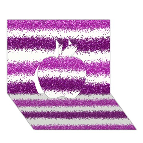 Pink Christmas Background Apple 3D Greeting Card (7x5)
