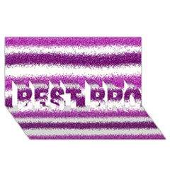 Pink Christmas Background BEST BRO 3D Greeting Card (8x4)