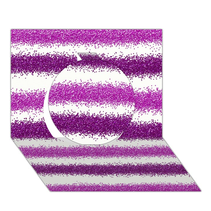 Pink Christmas Background Circle 3D Greeting Card (7x5)