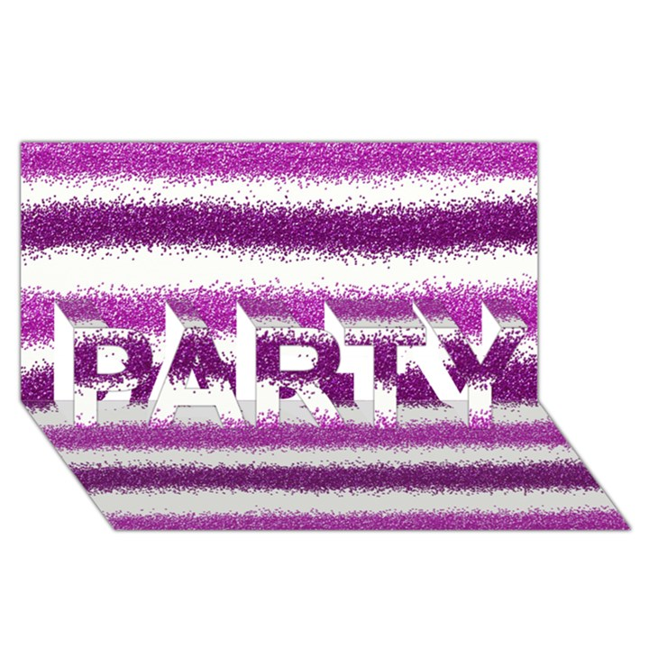 Pink Christmas Background PARTY 3D Greeting Card (8x4)