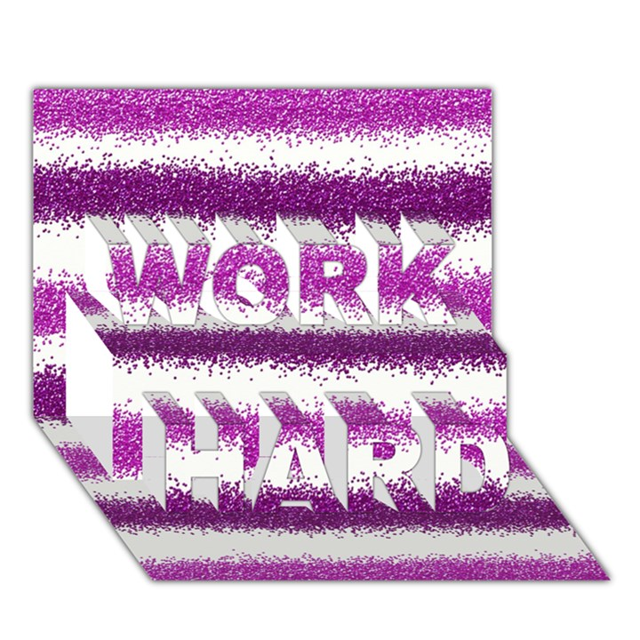 Pink Christmas Background WORK HARD 3D Greeting Card (7x5)