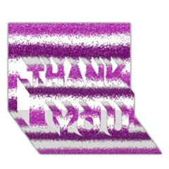 Pink Christmas Background THANK YOU 3D Greeting Card (7x5)