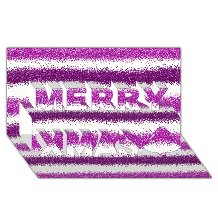 Pink Christmas Background Merry Xmas 3D Greeting Card (8x4)