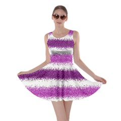 Pink Christmas Background Skater Dress