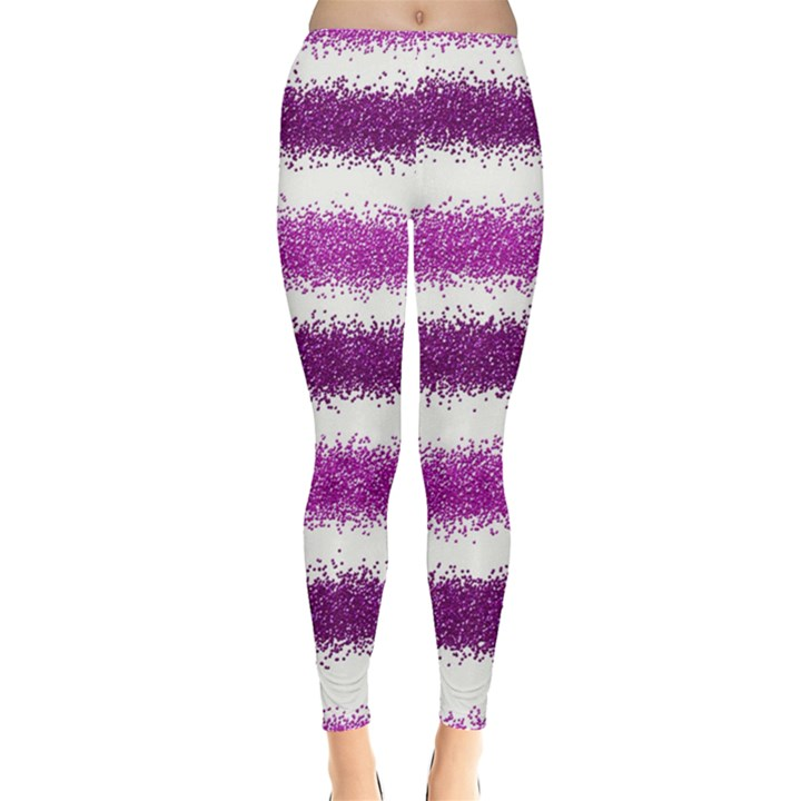 Pink Christmas Background Leggings
