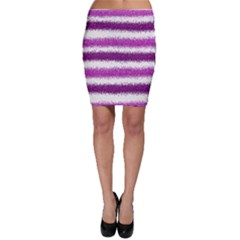 Pink Christmas Background Bodycon Skirt