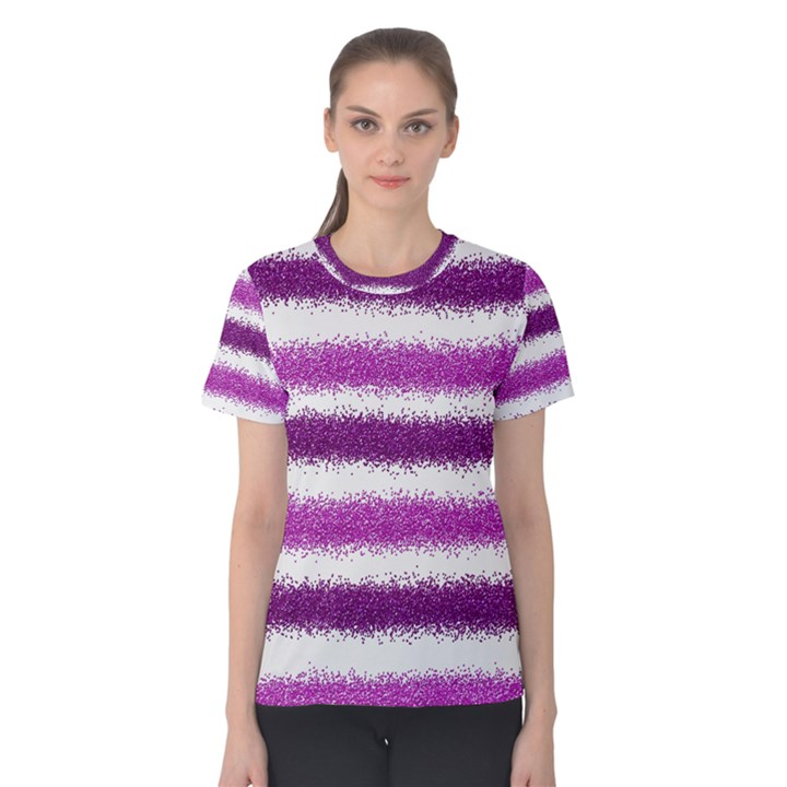 Pink Christmas Background Women s Cotton Tee