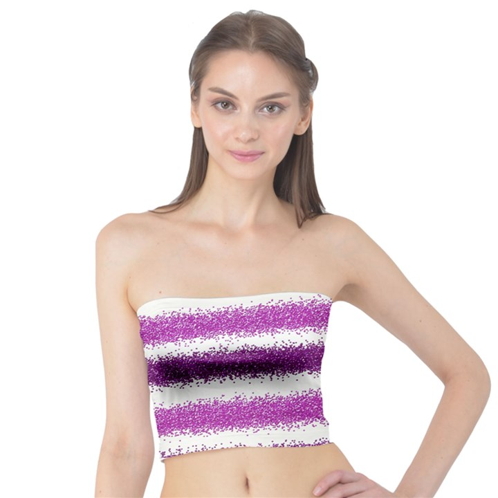Pink Christmas Background Tube Top