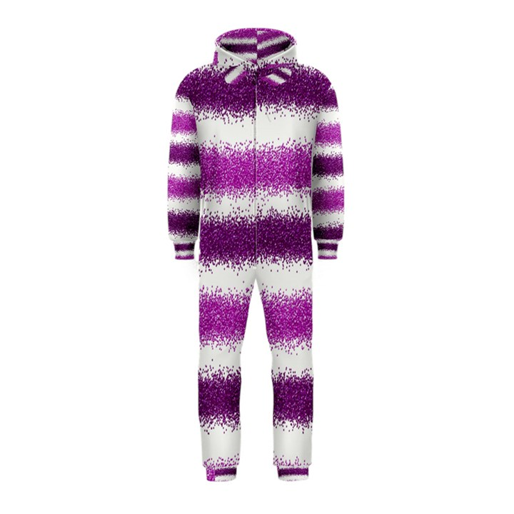 Pink Christmas Background Hooded Jumpsuit (Kids)