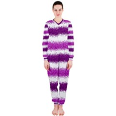Pink Christmas Background OnePiece Jumpsuit (Ladies)
