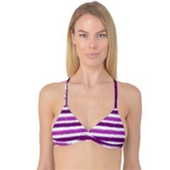 Pink Christmas Background Reversible Tri Bikini Top