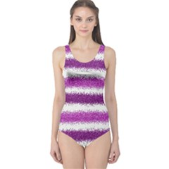 Pink Christmas Background One Piece Swimsuit