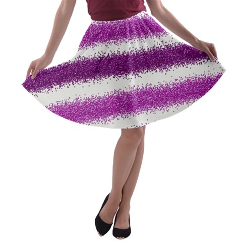 Pink Christmas Background A-line Skater Skirt
