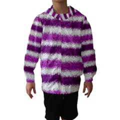Pink Christmas Background Hooded Wind Breaker (Kids)