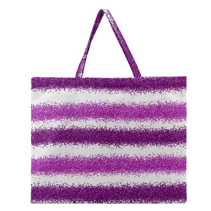Pink Christmas Background Zipper Large Tote Bag