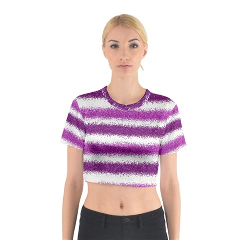 Pink Christmas Background Cotton Crop Top