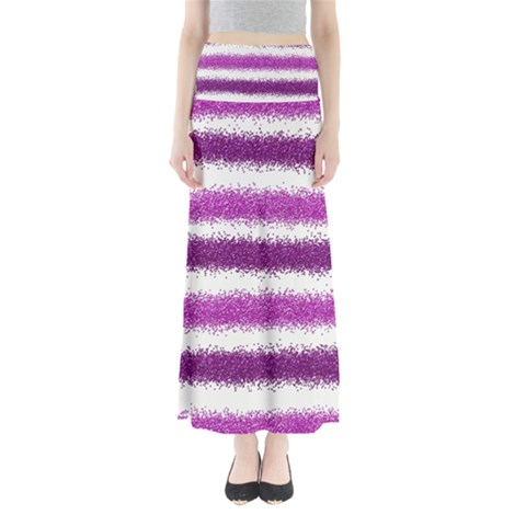 Pink Christmas Background Maxi Skirts