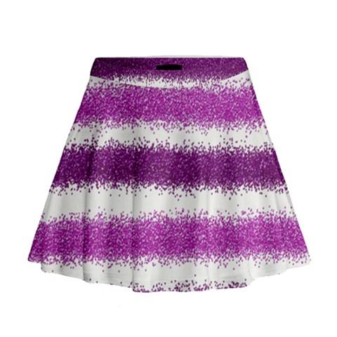 Pink Christmas Background Mini Flare Skirt