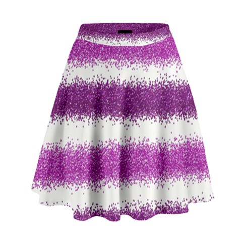 Pink Christmas Background High Waist Skirt