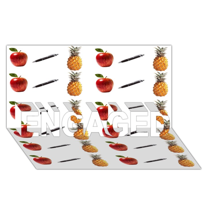Ppap Pen Pineapple Apple Pen ENGAGED 3D Greeting Card (8x4)