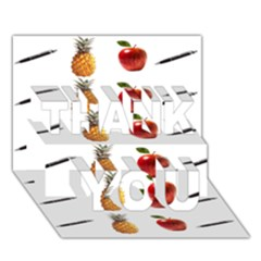 Ppap Pen Pineapple Apple Pen THANK YOU 3D Greeting Card (7x5)