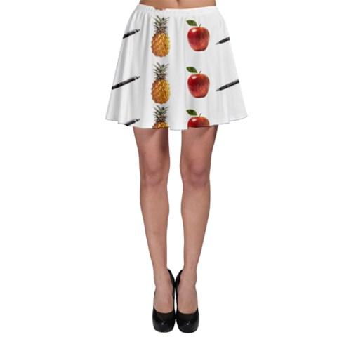 Ppap Pen Pineapple Apple Pen Skater Skirt