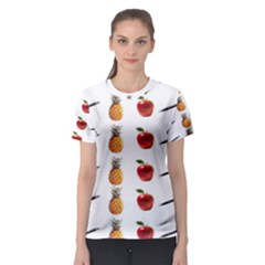 Ppap Pen Pineapple Apple Pen Women s Sport Mesh Tee