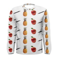Ppap Pen Pineapple Apple Pen Men s Long Sleeve Tee