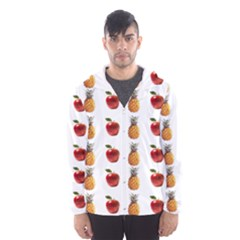 Ppap Pen Pineapple Apple Pen Hooded Wind Breaker (Men)