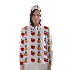 Ppap Pen Pineapple Apple Pen Hooded Wind Breaker (Women)