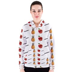 Ppap Pen Pineapple Apple Pen Women s Zipper Hoodie
