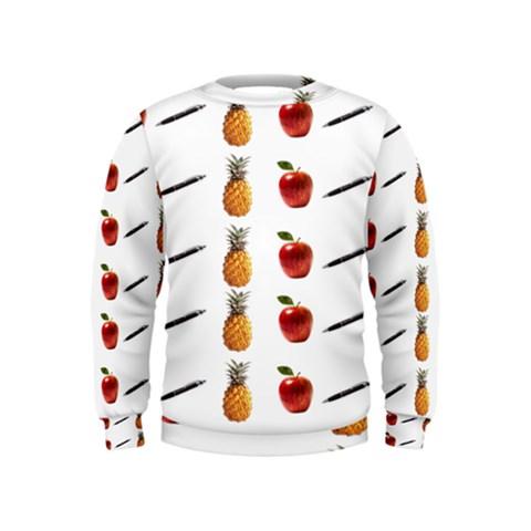 Ppap Pen Pineapple Apple Pen Kids  Sweatshirt