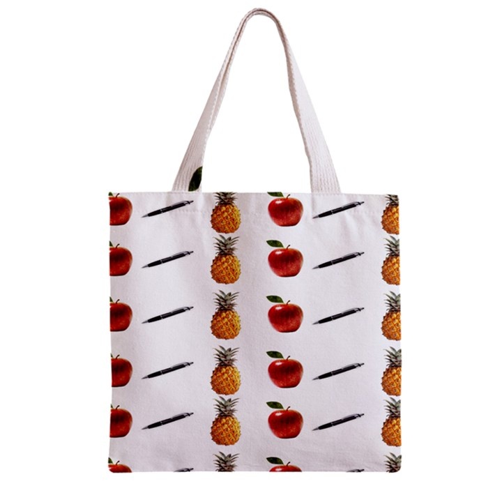 Ppap Pen Pineapple Apple Pen Zipper Grocery Tote Bag