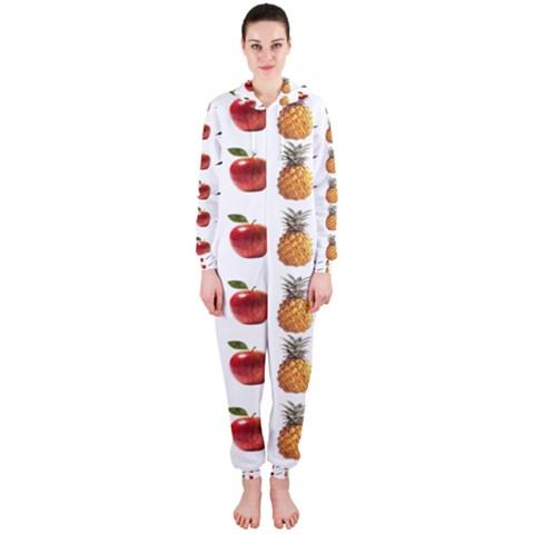 Ppap Pen Pineapple Apple Pen Hooded Jumpsuit (Ladies)