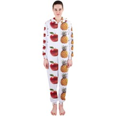 Ppap Pen Pineapple Apple Pen Hooded Jumpsuit (Ladies)