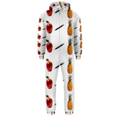 Ppap Pen Pineapple Apple Pen Hooded Jumpsuit (Men)