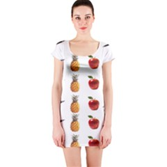 Ppap Pen Pineapple Apple Pen Short Sleeve Bodycon Dress