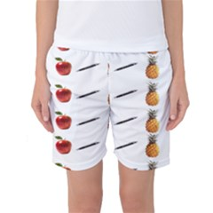 Ppap Pen Pineapple Apple Pen Women s Basketball Shorts