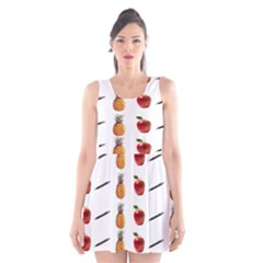 Ppap Pen Pineapple Apple Pen Scoop Neck Skater Dress