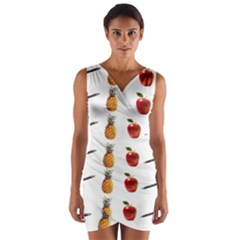 Ppap Pen Pineapple Apple Pen Wrap Front Bodycon Dress