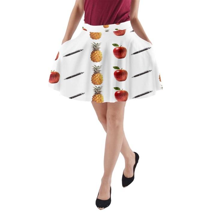 Ppap Pen Pineapple Apple Pen A-Line Pocket Skirt